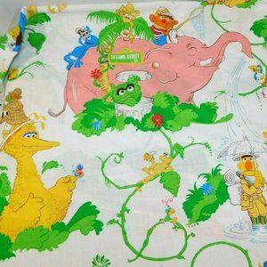 VTG Sesame Street Jungle Safari Twin Flat Sheet